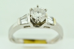 Platinum Diamond Semi-Mount Engagement Ring