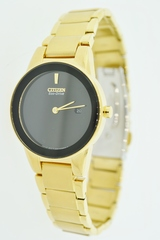 Gold Tone Stainless Steel Citizen Eco-Drive Watch