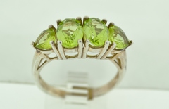 Sterling Silver Prong-set Peridot Ring