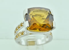 Sterling Silver Statement Citrine Ring