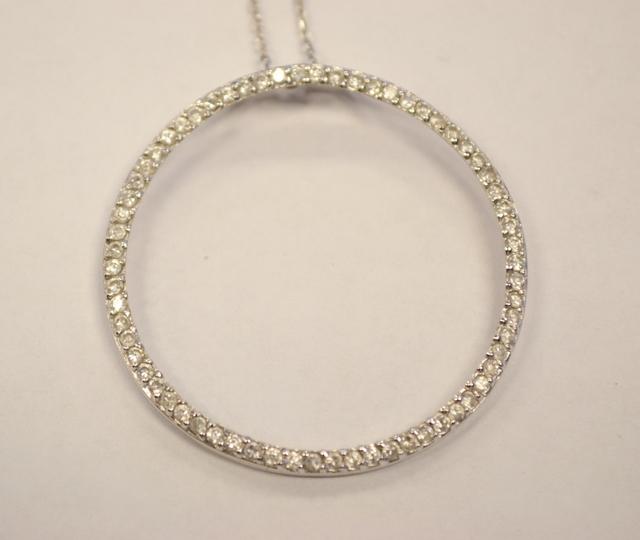 Sterling Silver Eternity Cubic Zirconia Pendant