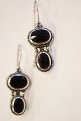 Sterling Silver Onyx Earrings