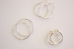 Sterling Silver Hoop Earring Set