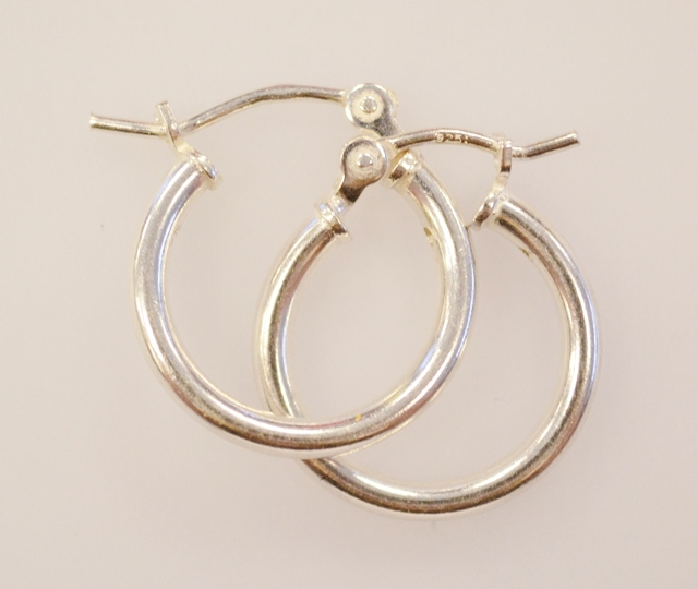 Sterling Silver Hoop Earring Set