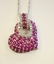 Sterling Silver Ruby and Diamond Heart Pendant