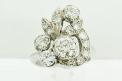 Round Diamond White Gold Heirloom Ring