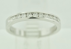 Channel-set Diamond Band 14k White Gold