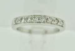 Diamond Pave Band in 14k White Gold