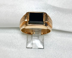 Onyx 14k Rose Gold Band