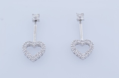 .50ct tw Diamond Heart Earrings