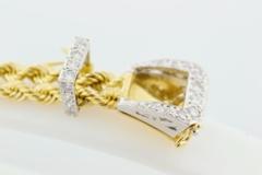Diamond Buckle Bracelet, Set in 14k Two Tone Gold