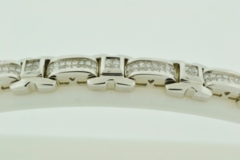 Invisible-set Diamond Bracelet, Set in 14k White Gold