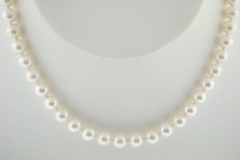 Cultured Pearl Necklace grade B+, 18 in.