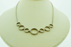 Sterling Silver Necklace with Diamond Accent