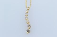 Diamond Journey Pendant, Set in 14k Yellow Gold