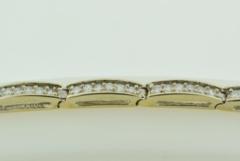 Pavé-set Diamond Tennis Bracelet, Set in 14k White Gold