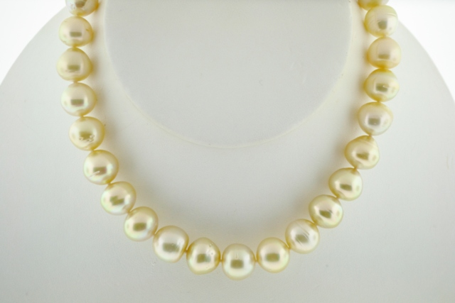 Baroque Golden Pearl Necklace, 17in.