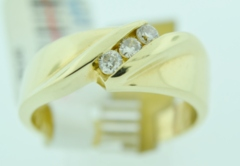 Fancy Diamond Channel Band, Set in 14k Yellow Gold