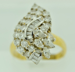 Diamond Fashion Ring, in 18k Yellow Gold