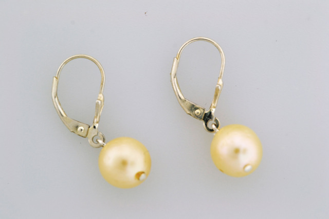 Pearl Dangle Earrings, Set in Sterling Silver