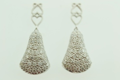 1ct tw Pavé Diamond Earrings