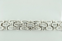 Channel-set Diamond Bracelet, Set in 14k White Gold