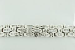 Channel-set Diamond Bracelet, Set in 14k White Gold