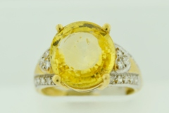 Yellow Sapphire and Diamond Ring, in 18k Yellow Gold