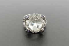 Cubic Zirconia Ring, Set in Sterling Silver