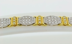 Two Tone Pavé-set Diamond Bracelet