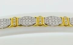 Two Tone Pavé-set Diamond Bracelet
