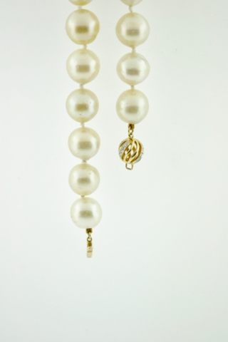 Light Golden Pearl Necklace, 18 in.
