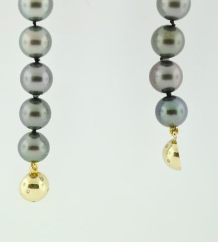 Tahitian Pearl Necklace Grade B/B+, 18in.