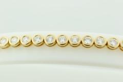 Bezel-set Diamond Tennis Bracelet, in 14k Yellow Gold