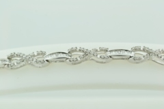 Infinity Diamond Bracelet, Set in 10k White Gold