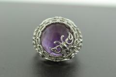 Amethyst Ring, Set in Sterling Silver