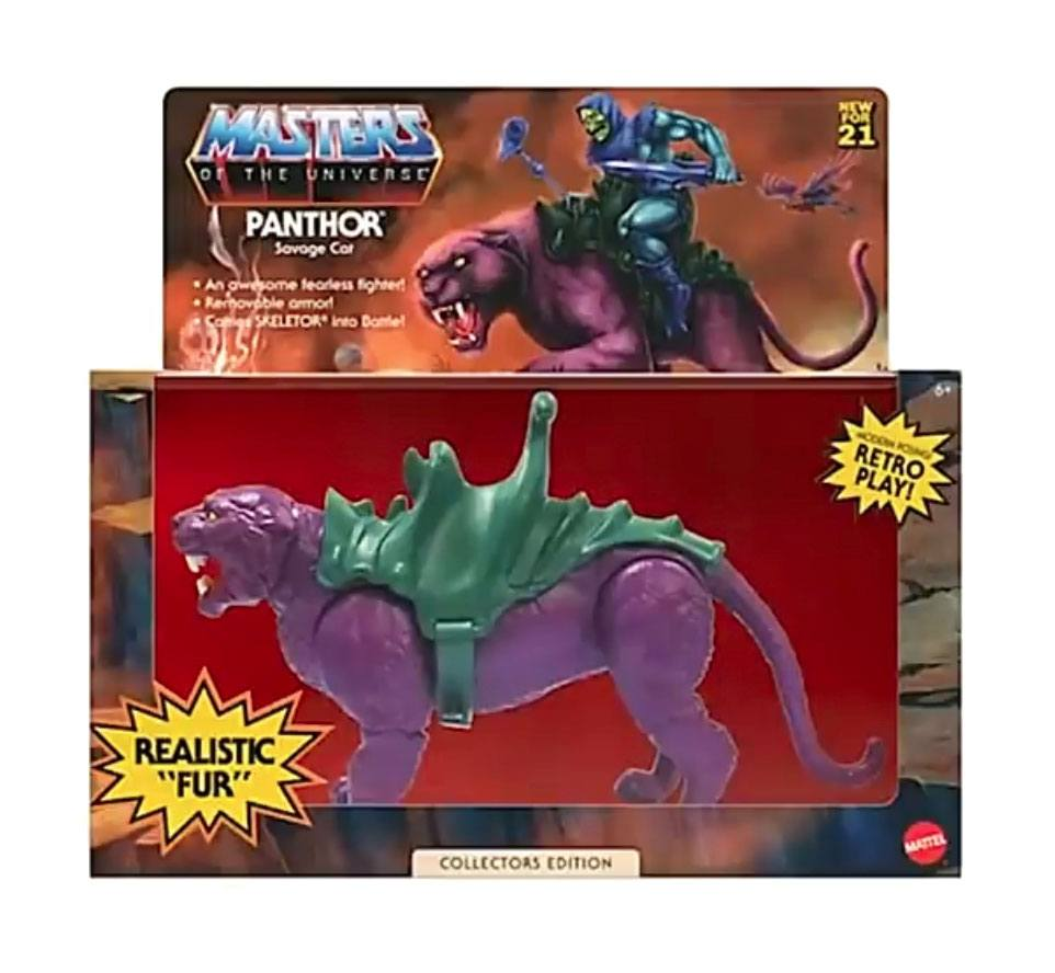 Masters of the Universe Origins Action Figure 2021 Panthor Flocked Collectors Edition Exclusiv