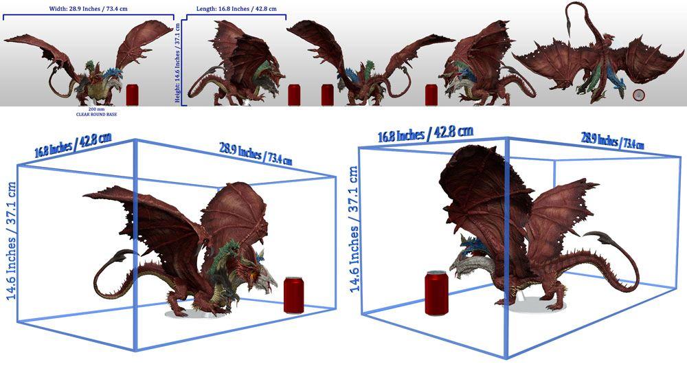 Dungeons & Dragons Icons of the Realms Premium Miniature pre-painted Gargantuan Tiamat