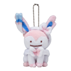 Pokemon Center 2019 Ditto Sylveon Mascot Keychain Plush [KC-1301]