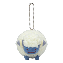 Pokemon Center 2019 Ditto Mareep Mascot Keychain Plush [KC-1301]
