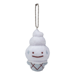Pokemon Center 2019 Ditto Vanillite Mascot Keychain Plush [KC-1301]