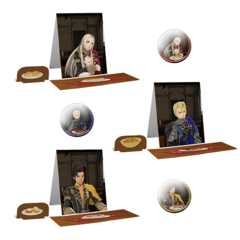 Three Houses: Interchangeable Dining Stand & Metal Badge (Random!) (Ship Date: End of May)