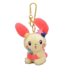 Pokemon Center 2019 Plusle Easter Garden Party Mascot Keychain Plush [KC-1303]