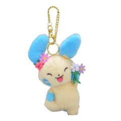 Pokemon Center 2019 Minun Easter Garden Party Mascot Keychain Plush [KC-1303]