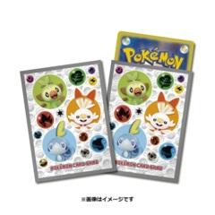 Pokemon 2020 Card Sleeves Scorbunny Grookey Sobble (64 Sleeves)