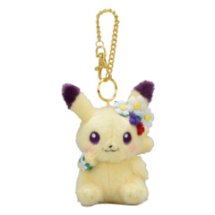 Pokemon Center 2019 Pikachu Easter Garden Party Mascot Keychain Plush [KC-1303]