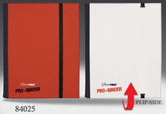 4 POCKET PRO BINDER, RED/WHITE