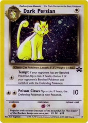 Dark Persian (Misprint) - 17 - Cosmos Holo - Nintendo Power Magazine Promo (August 2000) [Missing/Blank HP Error]