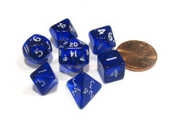 Mini Polyhedral Dice (Blue)