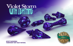 PolyHero Wizard Set - Violet Storm with Lightning